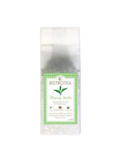 Žalioji arbata su rugiagėlėmis