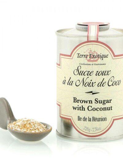 Rudas cukrus su kokoso drožlėmis