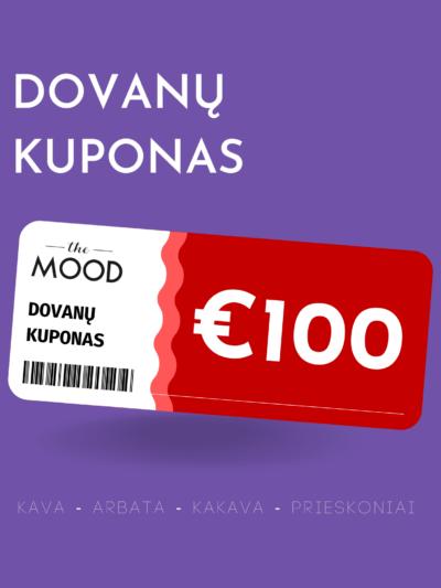 The Mood €100 vertės dovanų kuponas