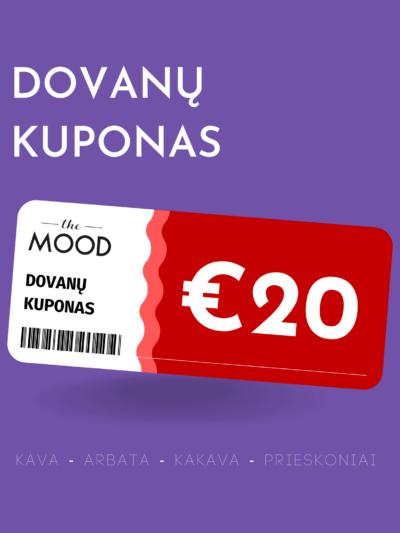 The Mood €20 vertės dovanų kuponas