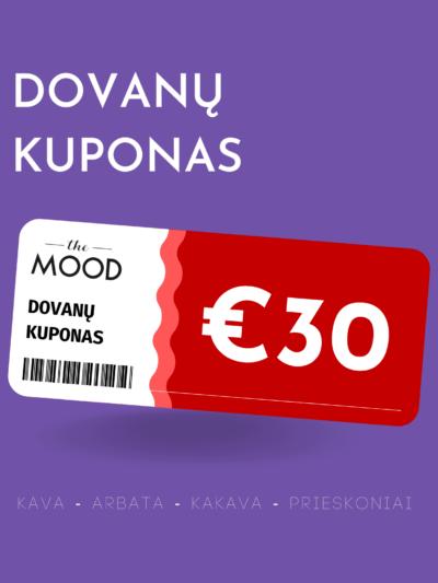 The Mood €50 vertės dovanų kuponas